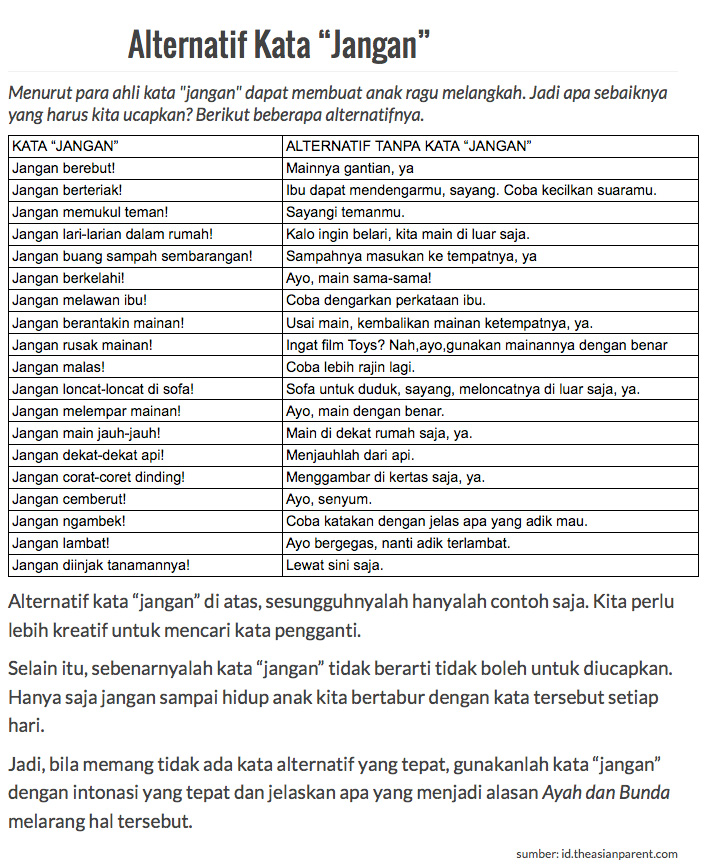 alternatifkatajanganlenkap